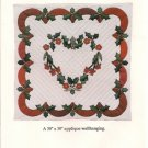 Holly Heart Applique Wallhanging Pattern by Osage County Quilt Factory