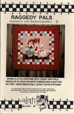 Raggedy Pals Quilt Pattern by Jane Tenorio-Coscarelli