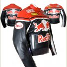 Redbull Motorcyle Leather Jacket with CE Approved Armour