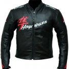 SUZUKI HAYABUSA Motorbike Black Leather Jacket Motorcycle Jacket CE Protection