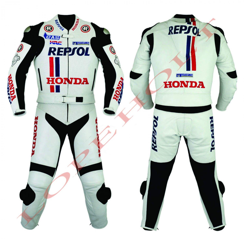 Honda Repsol MotoGp 2014 Motorcycle Leather Racing Suit