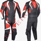 Red Motorcycle Leather Racing Suit with CE protection