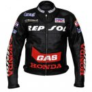 Honda Repsol Black Motorcycle Leather Racing Leather Jacket