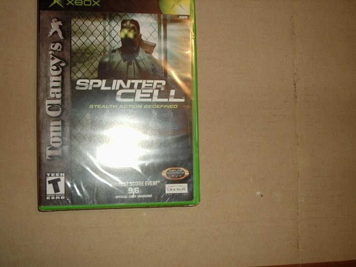 SPLINTER CELL  X BOX GAMES NEVER OPENED
