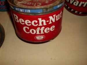 BEECH NUT COFFEE CAN WITH LID.OLD