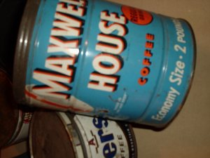 MAXWELL HOUSE COFFEE CAN LARGER TYPE