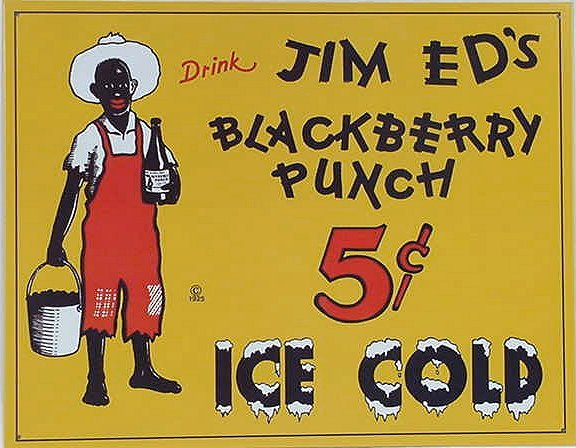 Jim Eds Blackberry Punch TIN SIGN - 34-25