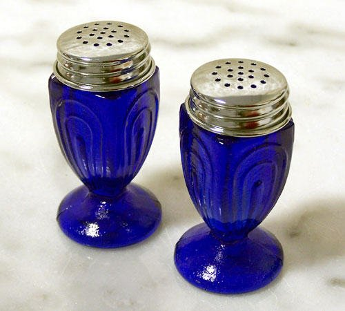 Blue Glass Salt & Pepper Set - 16428