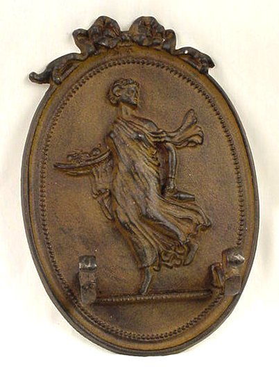 Lady 2 Hook Hanger Cast Iron Wall Plaque Set of 2 - 01640