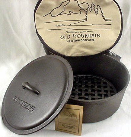 Dutch Oven 5 Quart Cast Iron Cookware Camping/Kitchen - 10111
