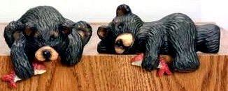 Northwood Bear Shelf Sitters Set of 2 Rustic Cabin - 20264