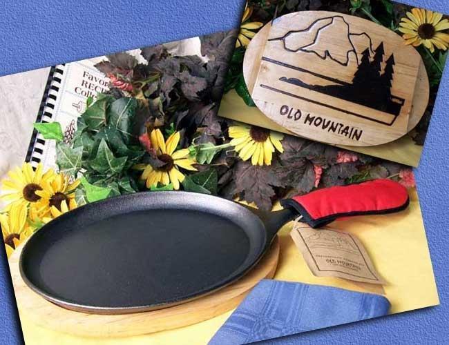 Cast Iron Old Mountain Fajita Pan/Accessories Set - 10132