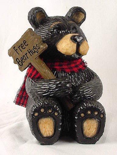 Free Bear Hugs Northwoods Bear Figurine Rustic - 25283