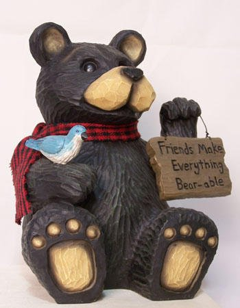 Northwood Friendship Sign Sitting Bear Figurine - 25052