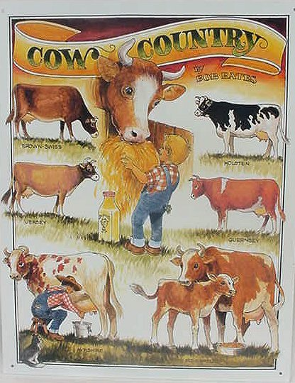 TIN SIGN Sign Cow Country Ranch Farm - 1171