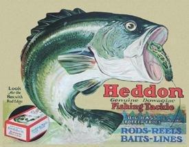 "TIN SIGN Heddon - Frogs ""Fishing Tackle"" Fisherman - 1005"