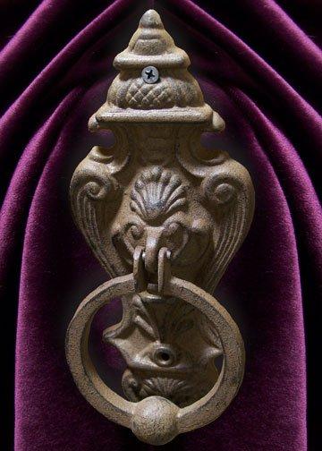 Cast Iron Gothic Style Lion Doorknocker Wall Decor - 11611