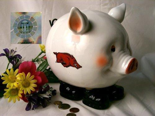 Arkansas Razorbacks Piggy Bank Collegiate Football - 5416