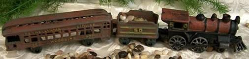 Pennsylvania Railroad Train Set 3 Piece Cast Iron - 07664