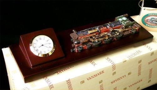 1920's Steam Train Watch Clock Mounted On Wood - 81488