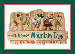 Tin Sign Mountain Dew Hillbilly -080812