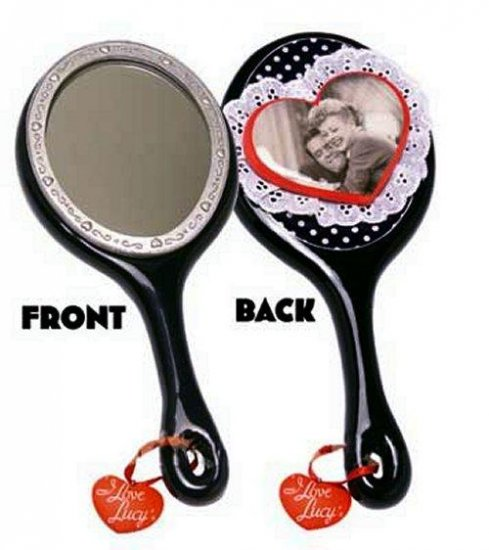 Polka Dot Decoupage Hand Mirror - I Love Lucy - 14250