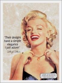 TIN SIGN Monroe LAH Jewelers Marilyn - 649