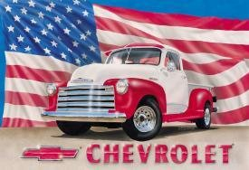 Tin Sign Chevy '51 Pick Up Truck - 704
