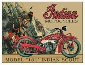 TIN SIGN Indian Scout Motorcycles - 635
