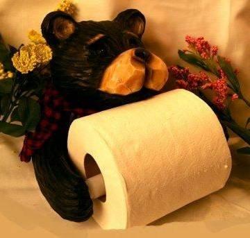 Northwood Bear Rustic Toilet Paper Holder Cabin - 26161