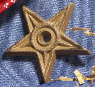 2-3/4 inch Cast Iron Star - Center Hole - SMALL - Set of 12 - 02108