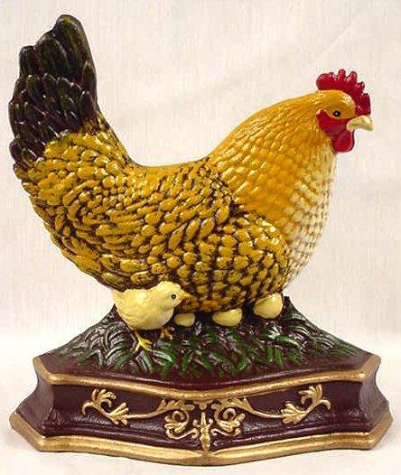 Doorstop Hen w/Chick & Eggs - 14614