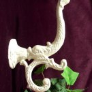 Set of 3 White Dolphin/Fish Cast Iron Wall Hook - 01204