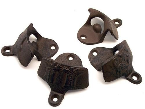Lot of 4 Western Theme Bottle Openers Rust Cast Iron - 07496 - 91