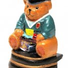 Mini Doorstop Cast Iron Painted Graduation Bear - 13170G - 4