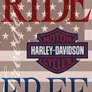 Harley Davidson Ride Free Garden Flag - 644580 - 4
