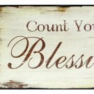 Wood 'Count Your Blessings' Plaque - 28672 - 7