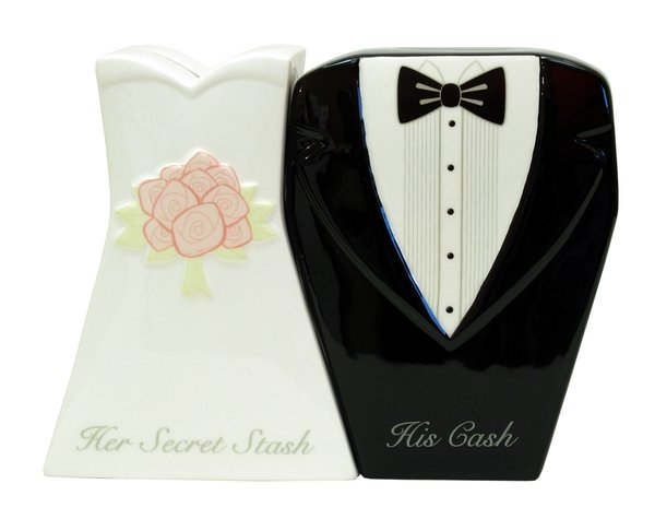 Mr. & Mrs. Wedding Bank Set of Two - 31741 - 20