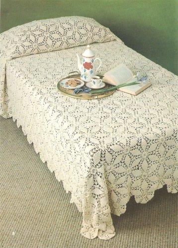 Star Popcorn Bedspread Crochet Pattern C 1022