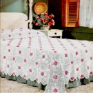 Rose and Pineapple Bedspread Crochet Pattern  C 1002