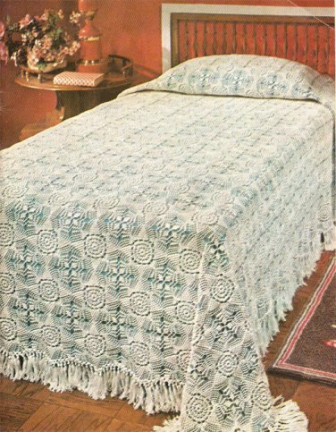 Snow White Bedspread Crochet Pattern C 1025