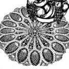 Doily with Pineapple Edge Crochet Pattern  C 1200