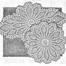 Pineapple Doilies (Pair) Crochet Pattern C 1053