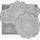 Pineapple Doilies (Pair) Crochet Pattern C 1053