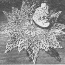 Rose Ruffle Doily Crochet Pattern C 1054