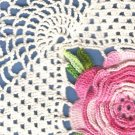 Square Rose Doily Crochet Pattern C 1201
