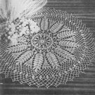 Wheat and Grape Doily Crochet Pattern C 1057