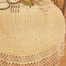 Lovely Oval Tablecloth Crochet Pattern  C 1036