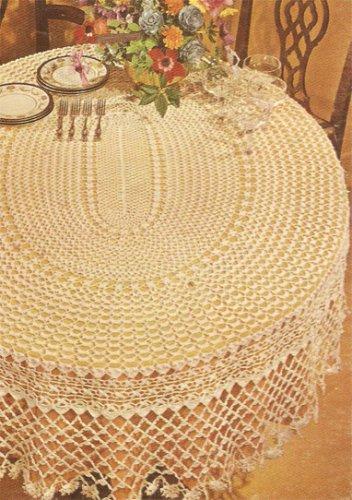 Lovely Oval Tablecloth Crochet Pattern  C 1036