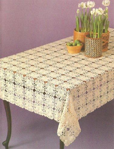 Pineapple Motif Tablecloth Crochet Pattern C 1039